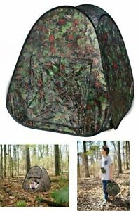 Pop Up Hunting Blind Outdoor Adventures Tent Child Kids Toy Play Hut Camouflage