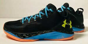 Under Armour UAA Micro G Fire Shot Low Basketball Shoes Men's Size 10 Blue black