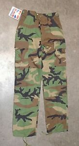 US Military Issue Woodland BDU Camouflage Combat Pants Trousers X-Small Regular