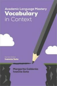 Academic Language Mastery: Vocabulary in Context Paperback or Softback