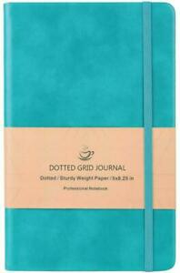Dotted Bullet Grid Journal Dot Grid Hard Cover Notebook Premium Thick Paper Blue