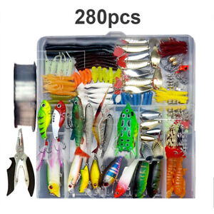 33-280 pcs Fishing Tackles Kit Fishing Lures Baits Set Crankbait Hooks Bionic