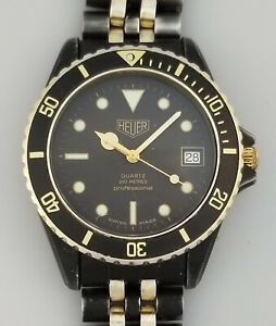 VINTAGE HEUER 1000 PVD PROFESSIONAL MENS DIVERS WATCH – 1980's PRE TAG – 982.013