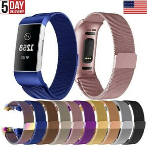 Strap Replacement Fashion Band Stainless Steel Magnet Use For Fitbit Charge 3