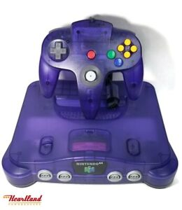 Nintendo N64 Grape Console With Controller Complete! (HE3004959)