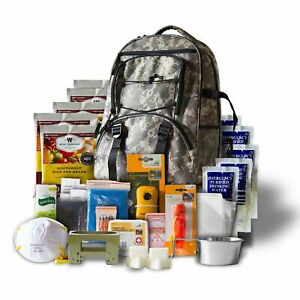 5-Day Survival Backpack Emergency Food Supply Water First Aid Camping Outdoor