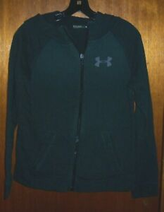 UNDER ARMOUR GIRLS LOOSEBLACK ZIP HOODIE YOUTH LARGE