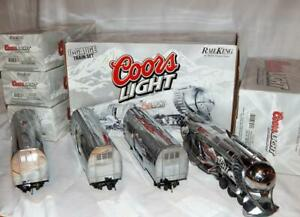 MTH 30-1433-1 COORS Light Silver Bullet Train Set Protosound 2 streamlined C6- O