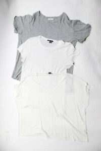 Vince Womens T Shirts White Gray Size Medium/Large Lot 3