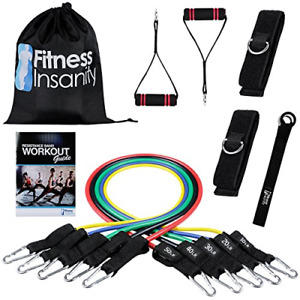 Best Fitness Insanity Resistance Include 5 Stackable Exercise Bands Waterproof