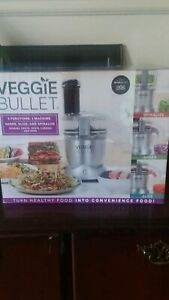 Veggie bullet electric spiralizer food processor with 4 attachments