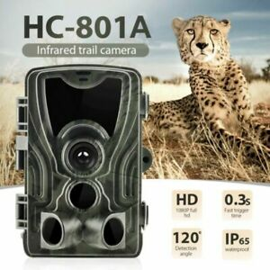 HC-801A 16MP 1080P HD Video Hunting Camera Night Vision IP65 IR Trail Cam Trap