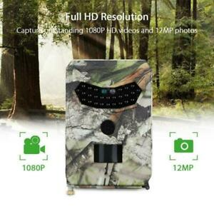 12MP Hunting Camera Photo Trap Night Vision 1080P Video Trail Wildlife Cam PR100