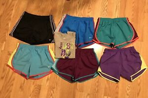 Nike Girls Dri-Fit Tempo Lined Mesh Athletic Youth Size Large Shorts Lot of 6