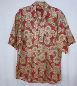 Guess Georges Marciano Vintage 90s Button Up Short Sleeve Shirt Men's Size Large
