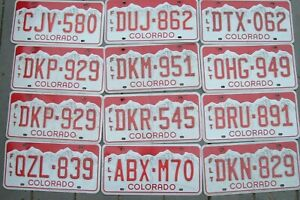 Lot of 15 COLORADO red  license plates