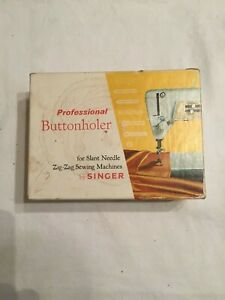 VTG. Professional Buttonholer by Singer For Slant Needle Zig Zag Sewing Machines $24.88