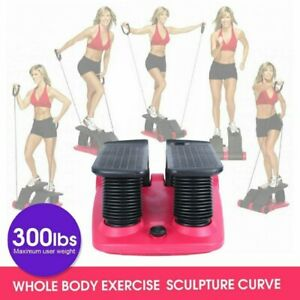 Air Stepper Climber Gym Exercise Fitness Thigh Machine W DVD Resistant Cord