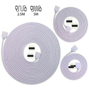 4Pin Extension Wire Connector For SMD LED Strip Light RGB 5050 3528 Cable Cord