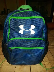 Under Armour Backpack Tri Color Blue, Green,Black EUC $15.99