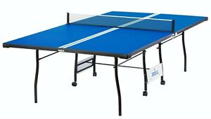 JOOLA Envoy Indoor Table Tennis Table with Ping Pong Net and Post Set 15mm Surf