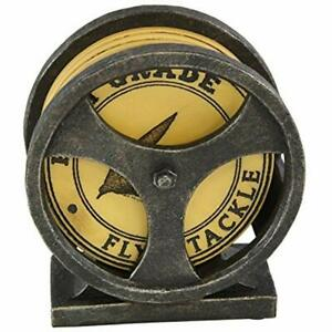 Fishing Coasters Lure Cool Table Drink Set Of 4 With Reel Base Holder - Unique