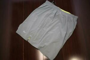 26550 Mens Nike Running Dri Fit Lined Gray Athletic Work Out Shorts Sz 2XL XXL