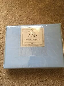 Basics Collection 220 Thread Count 3PC Sheet Set Twin Blue