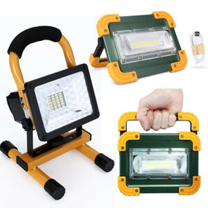 30W LED Work Light Rechargeable Emergency Flood Lamp With Stand 18650 For Camp