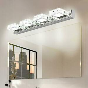 Modern Bathroom Lighting LED Crystal Mirror Front Make up Wall Lamp Vanity Light $28.91