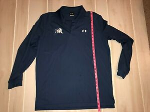MENS UNDER ARMOUR BLUE LONG SLEEVE POLO SHIRT GOLF SIZE LARGE