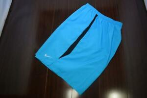 26556 Mens Nike Running Dri Fit Lined Blue Athletic Work Out Shorts Sz 2XL XXL