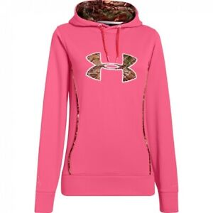 Under Armour Hoodie Women's Large Storm Caliber Hoody Realtree Camo Logo NWT