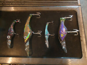 LOT OF 4 GIANT SALMON KILLER FISHING LURES
