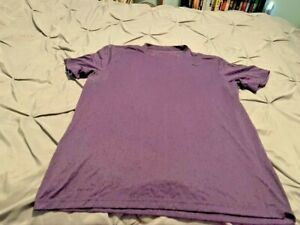 NIKE DRI-FIT Men's Purple SS Shirt. Size Large  USA FREE SHIPPING