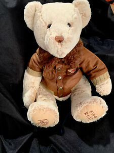 FAO Schwarz Bear 1862 Jacket Brown Plush Bear Toy Animal 14th Toys r Us 2011 A1 $12.50