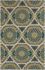 Surya KAL-8001 Kaleidoscope Transitional Global Olive 5' x 8' Area Rug