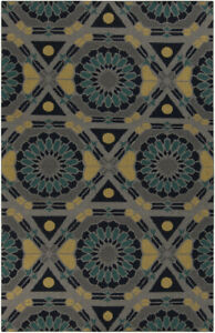 Surya KAL-8005 Kaleidoscope Transitional Global Ash Gray 5' x 8' Area Rug