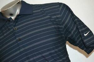 3941-a Mens Nike Golf Polo Shirt Size Medium Fit Dry Polyester Blue