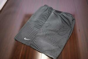 27114 Mens Nike Running Dri Fit Lined Graphic Athletic Work Out Shorts 2XL XXL