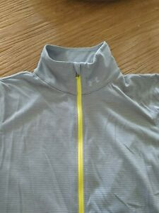 Under Armour Heat Gear Women's Small Running Shirt Pullover Gray White S Top
