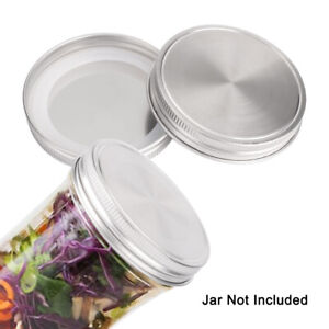Stainless Steel Wide Mouth Mason Jar Lids for Mason Canning Jars Caps
