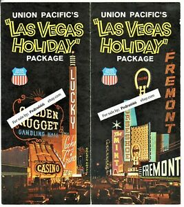 1965 Union Pacific RR Las Vegas Holiday Package Hotel Casino travel brochure