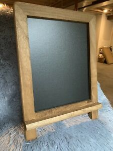Small Decorative Chalkboard - Rustic Table Top Easel Sign w/ Stand - Wood 13