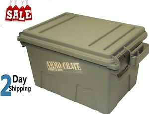 MTM Ammo Crate Utility Box Stackable Water-resistant for Dry Storage 2 Packs