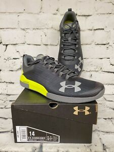 Under Armour Charged Legend Trainer Mens Size 14 Shoes New Gray