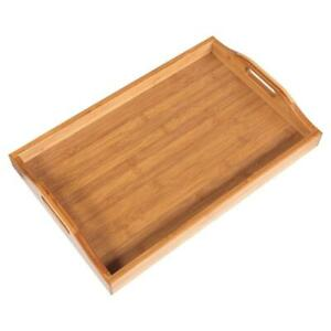 High Grade Wooden Serving Tray with Handles/Serving Tea Breakfast Wood Kitchen