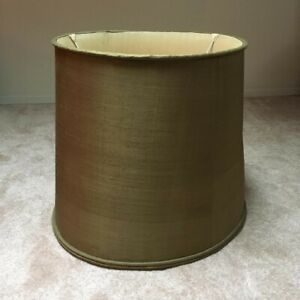 Very Large Vintage Thai Silk Lampshade to match Celadon Table Lamp