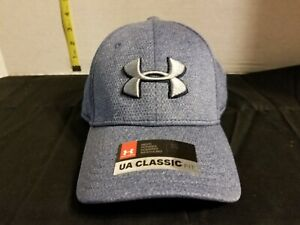 New Under Armor Classic Fit ML Fitted Hat Blue