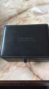 American Express AMEX  black card (centurion) vanity box, genuine leathe